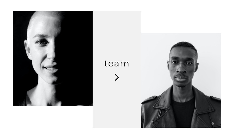 See the whole team HTML Template