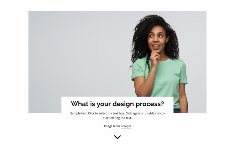 Organization process Website Template