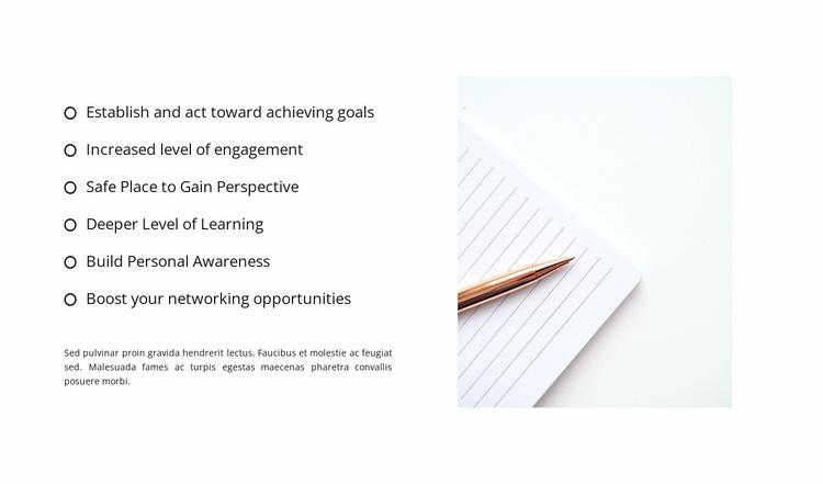 A well-formed list Website Template