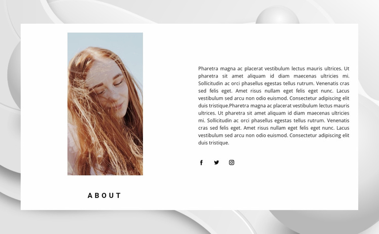 About modeling agency Website Template