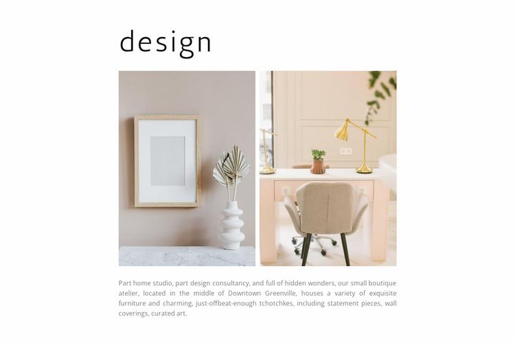 Designer things Website Template
