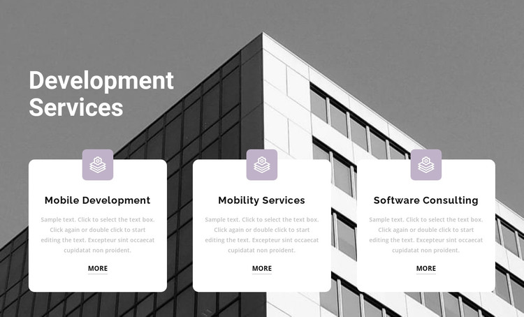 Three points at work HTML Template