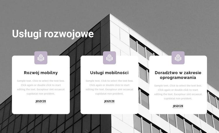Trzy punkty w pracy Szablon witryny sieci Web