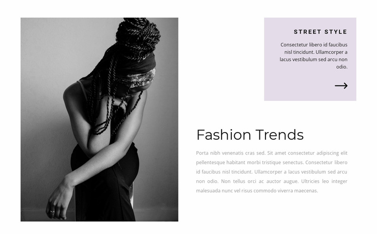 Fashion ideas for the show Website Template