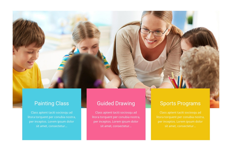 Drawing and crafts Joomla Page Builder