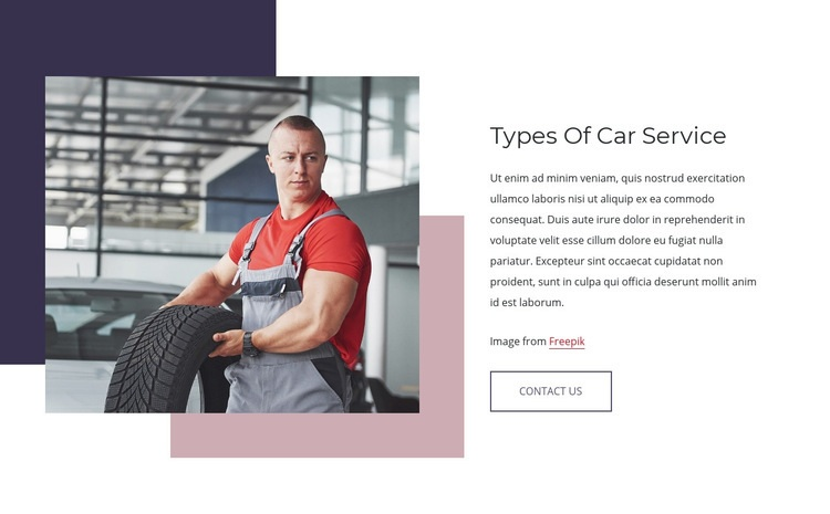 Types of car services Html Code Example