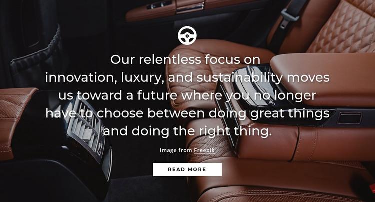 Luxury car HTML Template
