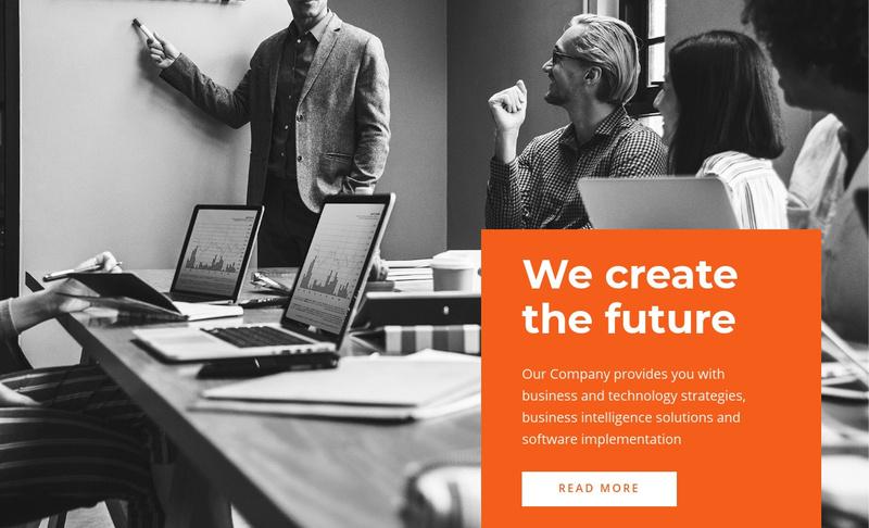 We create future Website Maker