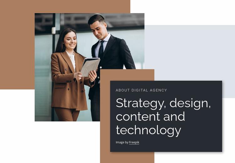 Design, content, marketing Website Template