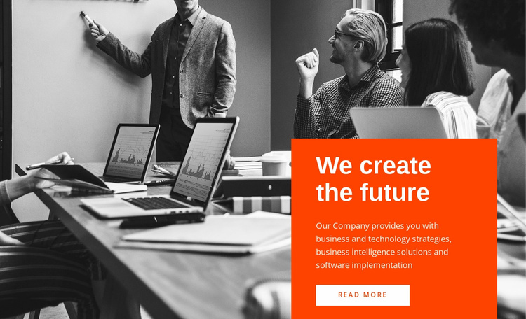 We create future Landing Page
