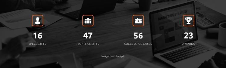 Company achievements design HTML Template