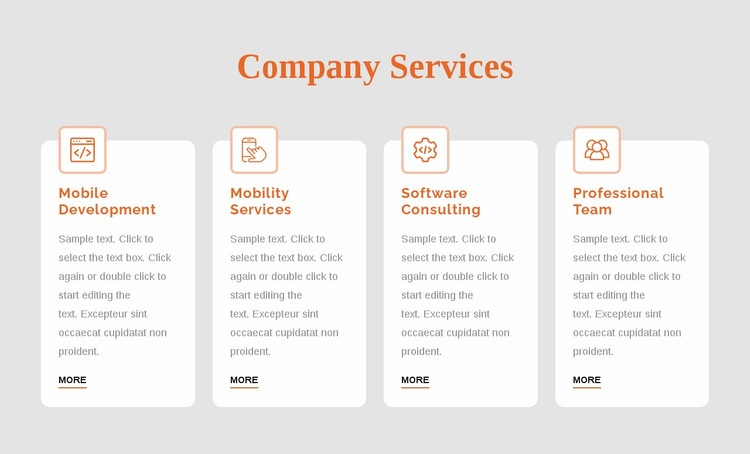 Corporate services Html Code Example