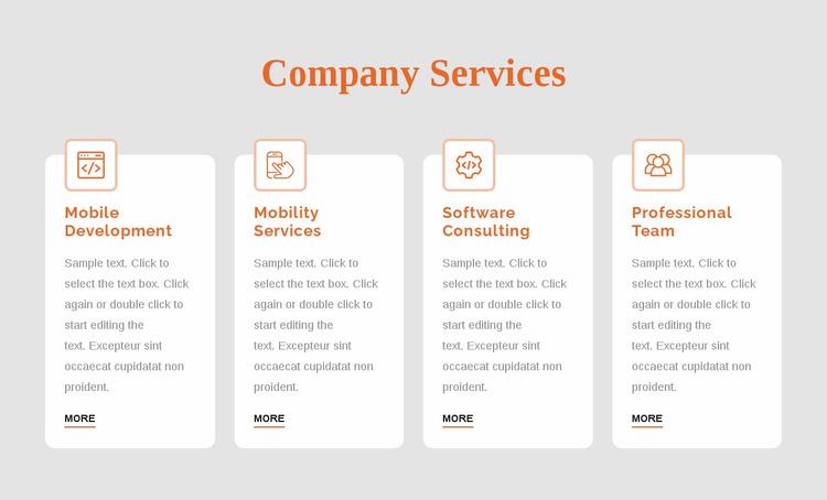 Corporate services Website Mockup