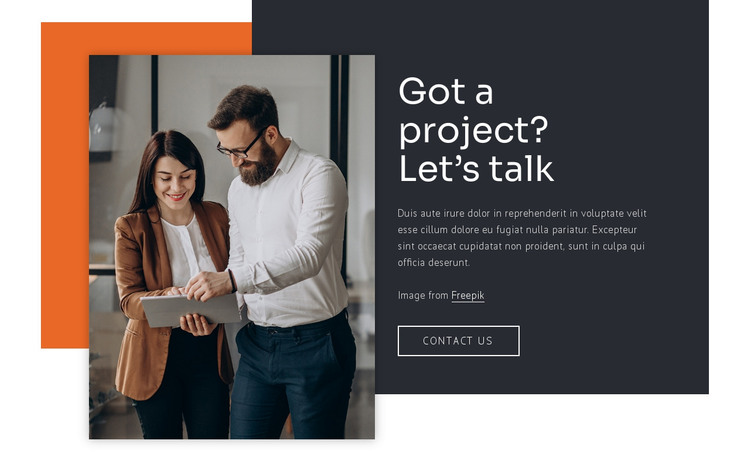 We build relationships HTML Template