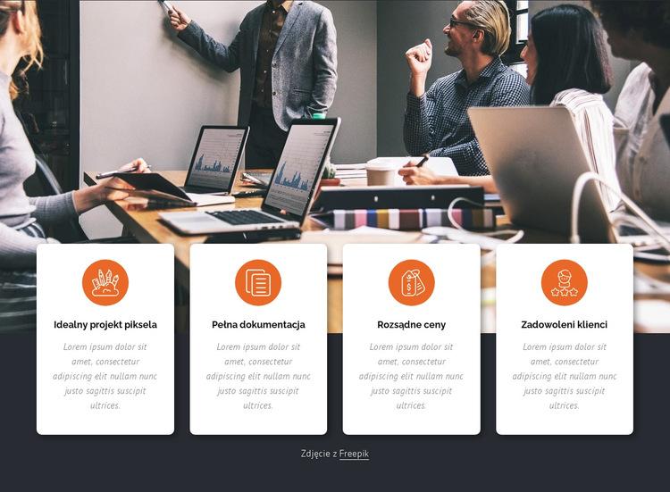 Usługi biznesowe Szablon witryny sieci Web