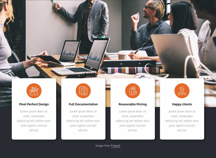 Business services Web Page Design