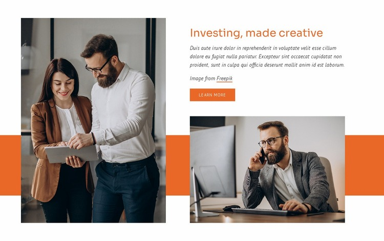 Investing consultationg Web Page Designer