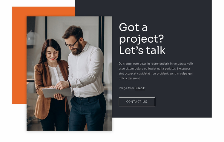 We build relationships Website Design