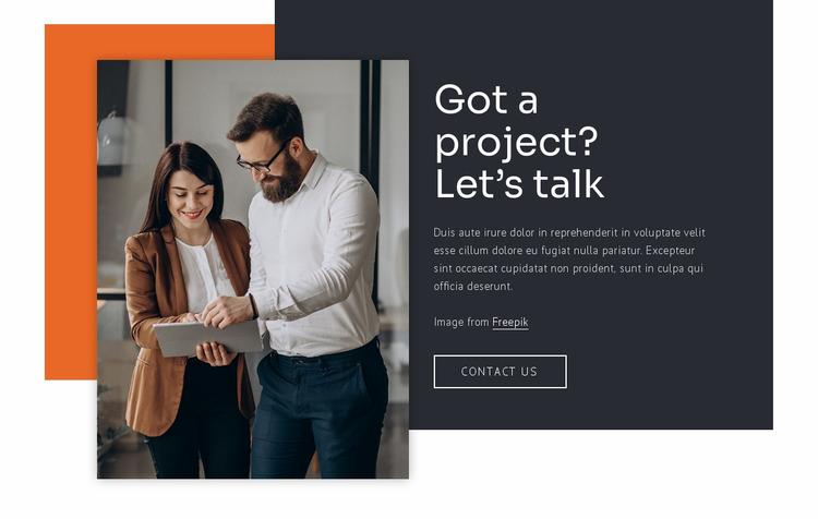 We build relationships Website Mockup