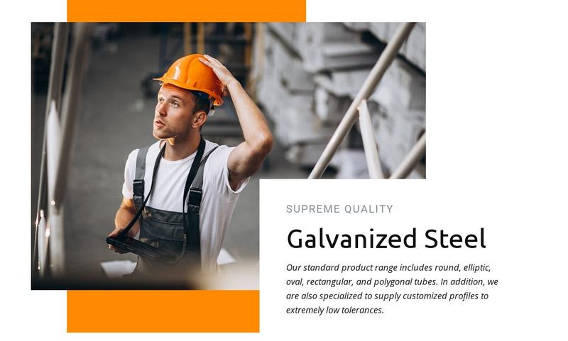 Galvanized steel Web Page Design