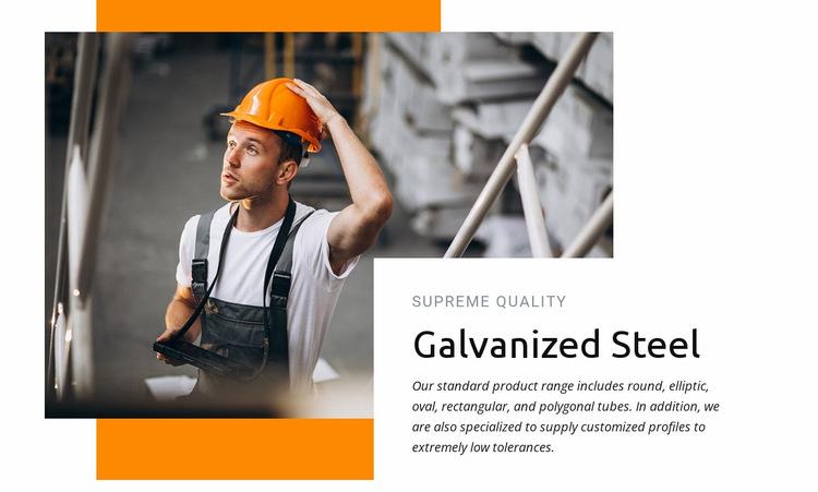 Galvanized steel Website Builder Templates
