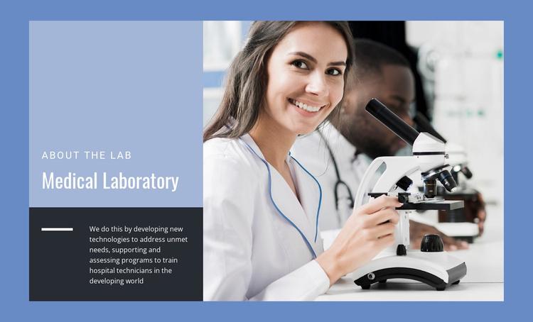 Medical Laboratory Website Template