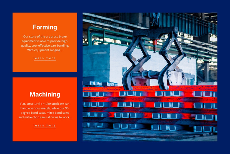 Forming and machining Website Template