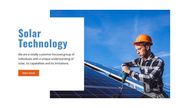 Solar technology Website Builder Software