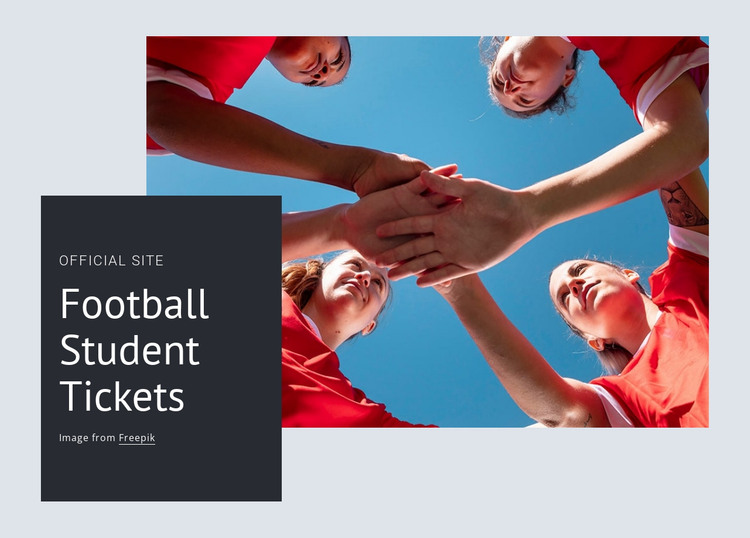 Football student tickets HTML Template