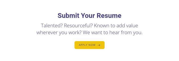Submit your resume HTML Template