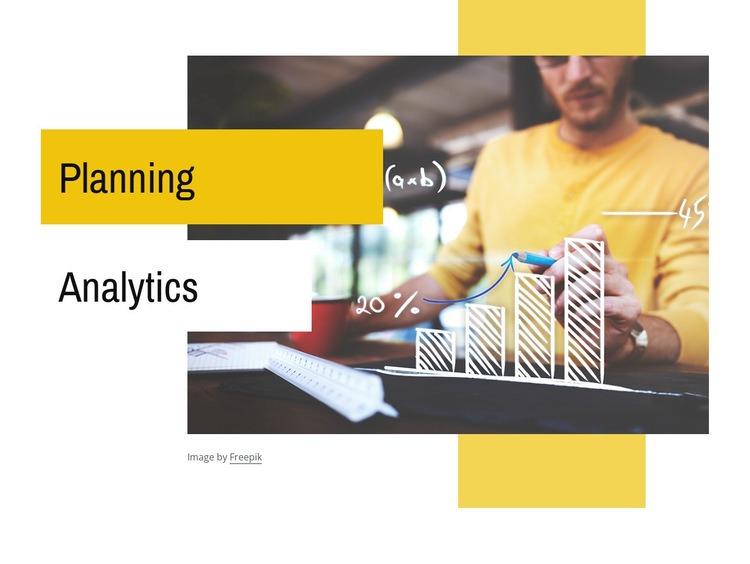 Planning, budgeting, forecasting Web Page Designer