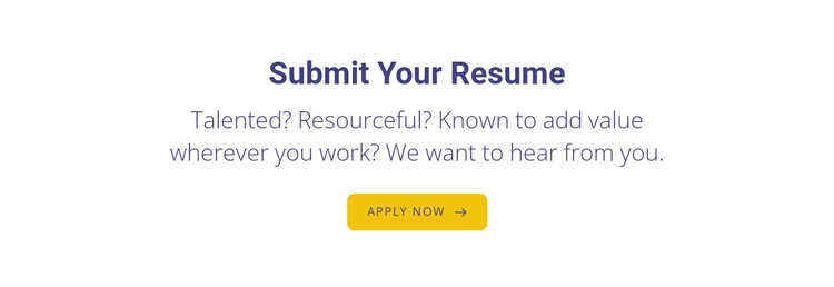 Submit your resume Website Builder Software