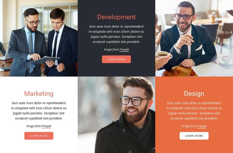 Streamline collaboration HTML Template
