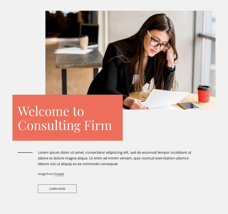 Welcome to consulting firm Website Mockup