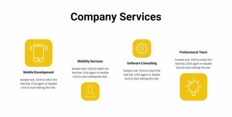 Services of our company Website Template