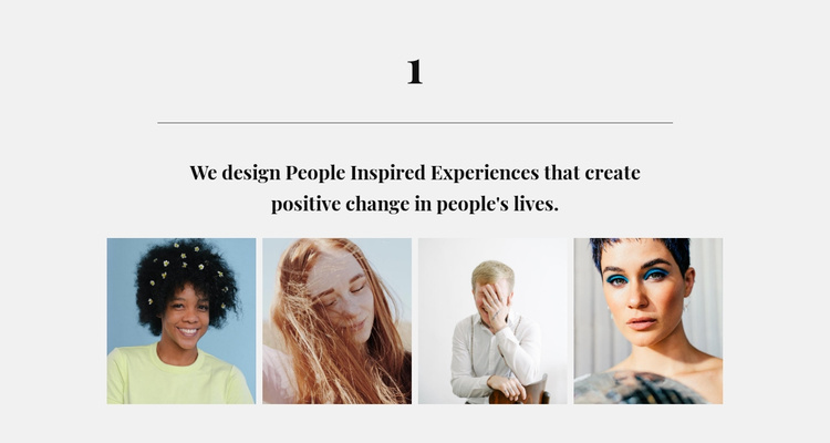 Gallery with beautiful people Website Template