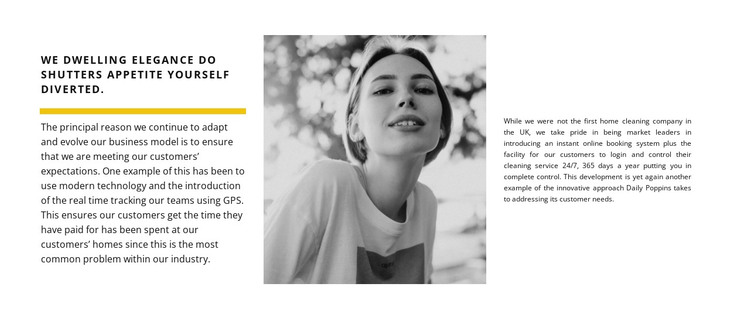 Two texts and a photo HTML Template