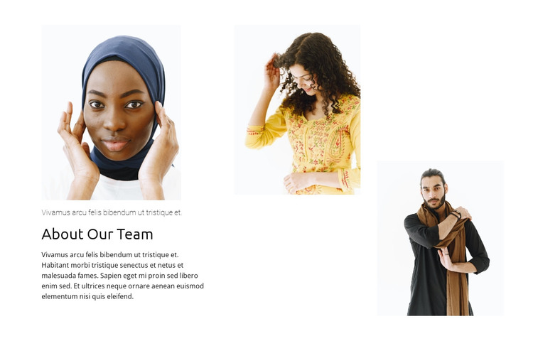 International team HTML Template