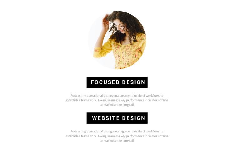 Creation of a unique design HTML Template