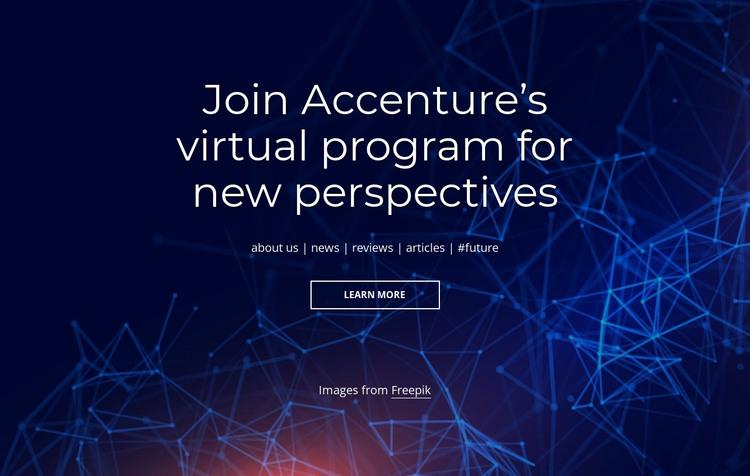 Virtual program HTML Template