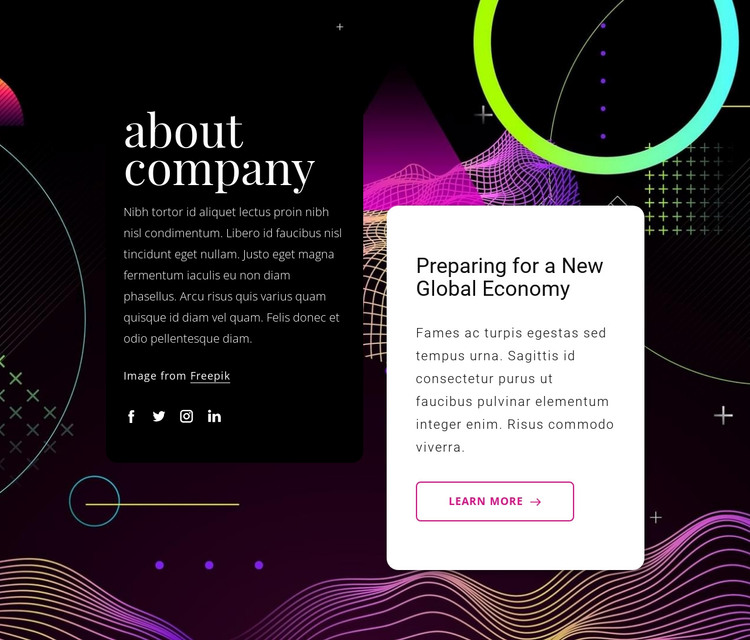Change management HTML Template