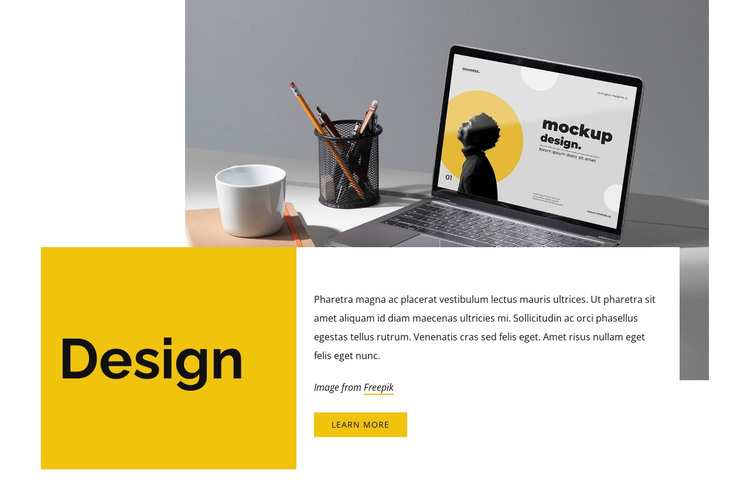 Design and stretchy HTML Template