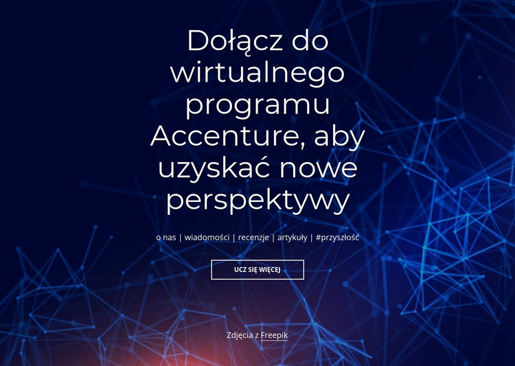 Program wirtualny Szablon witryny sieci Web