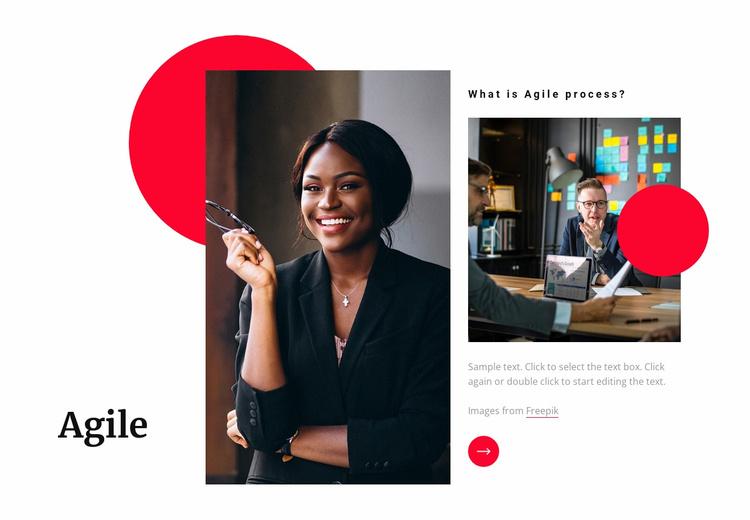 Agile software development Website Template