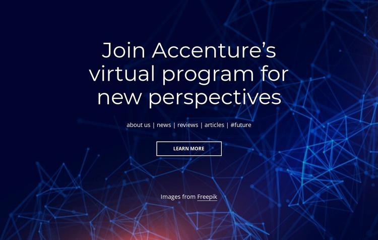Virtual program Website Template