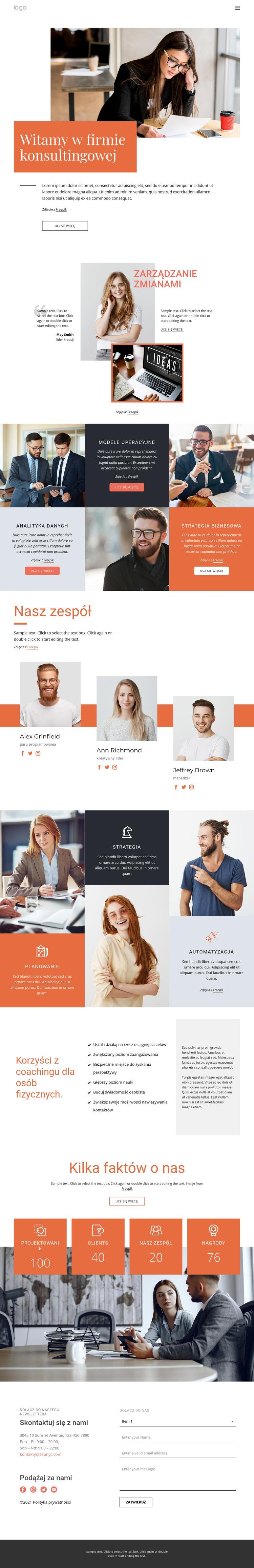 Firma konsultingowa Szablon witryny sieci Web