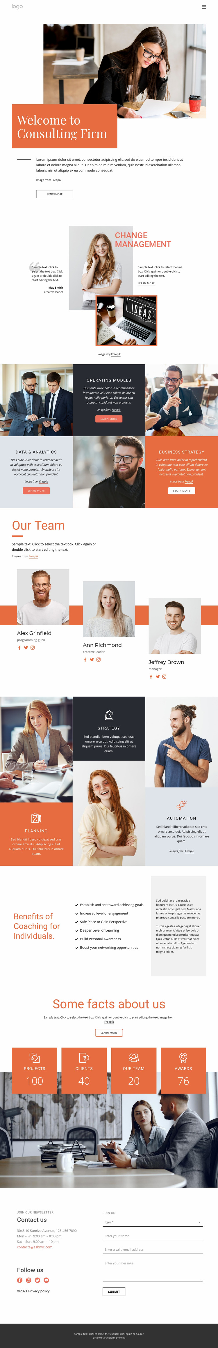 Consulting firm Website Mockup