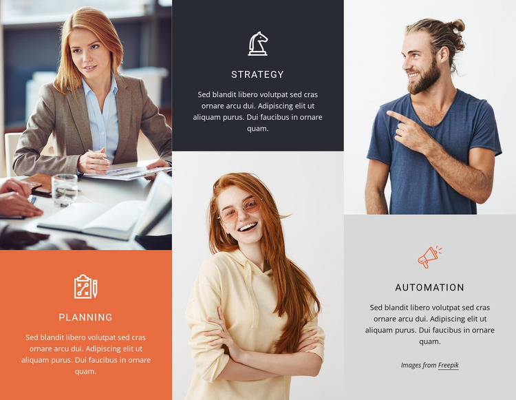 Strategy and consulting Website Mockup