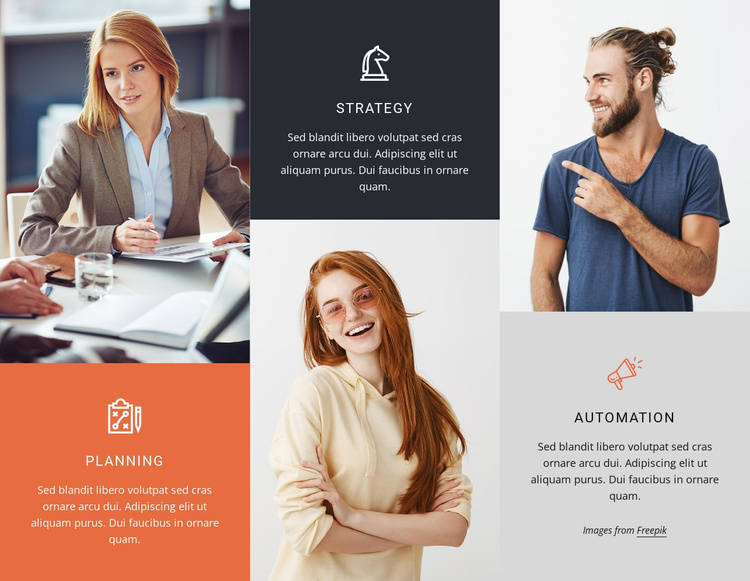 Strategy and consulting Website Template