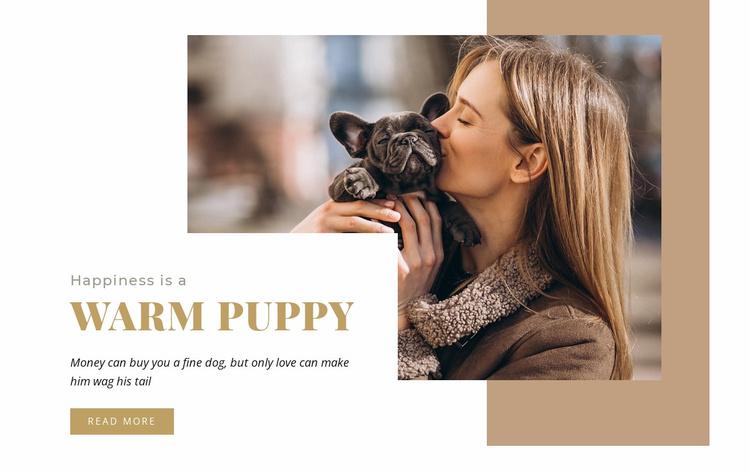 Warm puppy Website Template